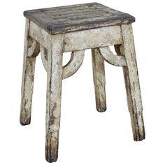 Spanish Arts and Crafts Period Painted Low Table or Bench, circa 1900 | From a unique collection of antique and modern side tables at https://www.1stdibs.com/furniture/tables/side-tables/
