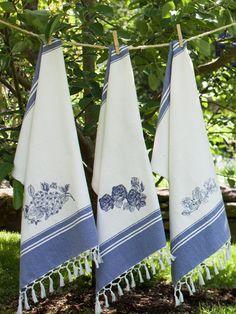 Flower Rose Emb Tea Towel   Summer 2014 On Sale :Beautiful Designs by April Cornell $8.40