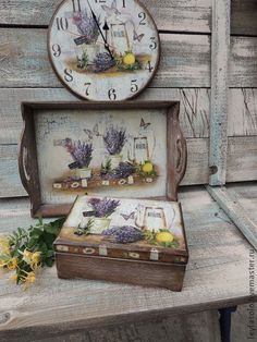 Buy Lavender tray – beige, tray, tray – Her Telden News Decoupage Wood, Decoupage Vintage, Paisley Art, Painted Trays, Mason Jar Crafts, Fall Diy, Paint Furniture, Wood Boxes, Painting On Wood