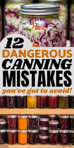 Canning is a great way to preserve your garden or local, seasonal favorites. Are you making these canning mistakes that cost you time, money or your health? Ignoring the rules of canning could lead to botulism poisoning-  make sure you can safely!