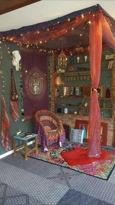 Our Gypsy corner just have to pop a mattress in for a comfy day bed! Very relaxing little no Bohemian House Decor Bed Comfy corner Day Gypsy Mattress Pop relaxing