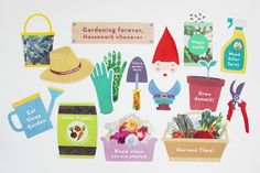 Gardening Photo Booth Props  | Creative Sense Co  #garden #gardening #gardener #decorations #creativesenseco #diy #craft #party #props #gnome