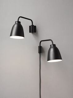 Caravaggio Wall lamps Black designed by Cecilie Manz http://www.lightyears.dk/lamps/wall-lamps/caravaggio-black.aspx