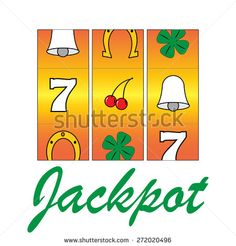 casino gamble machine - jackpot slots. vector illustration