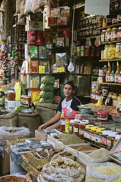 Shop in Straight Street, Old Damascus, Syria
