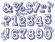 hand drawn numbers - Google Search