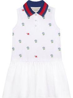14cc7b922 Gucci Kids Children's embroidered cotton dress - White Gucci Dress, Dress  P, Gucci Kids