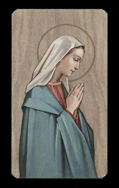 """santino-holy card""""""""ediz. FB serie ORTISEI n.7 MARIA IN PREGHIERA"""