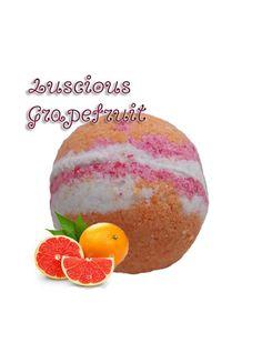 LUSCIOUS GRAPEFRUIT BATHBOMB, bath bomb, grapefruit, large, gift, present, favor, bathbomb by SnazzieBombs on Etsy
