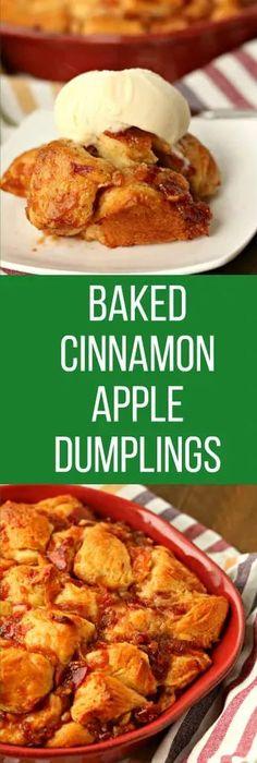 apple cinnamon dumplings