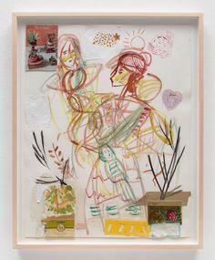 いいね!424件、コメント7件 ― Bridget Donahue (gallery)(@bridgetdonahue.nyc)のInstagramアカウント: 「#SusanCianciolo Motherhood, 2019 Water-based paint and collage on paper 28 × 22 in. (71.12 × 55.88…」