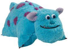 """Pillow Pets Authentic Disney 18"""" Sulley Folding Plush Pillow- Large"""