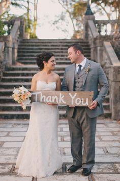 Thank you Wedding Sign Ideas | Weddings Romantique
