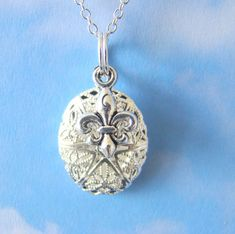 Demi Essential Oil Diffuser Necklace Fleurdelis Aroma by EverTrend, $16.00