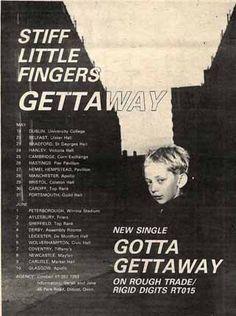 Stiff Little Fingers - Gotta Gettaway Advert 1979