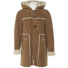Pre-owned Comptoir Des Cotonniers Brown Suede Coat ($246) ❤ liked on Polyvore featuring outerwear, coats, brown, women clothing coats, suede coat, suede leather coat, brown coat, comptoir des cotonniers and brown suede coat