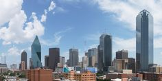 A sneak peak of the gorgeous Dallas skyline from the rooftop of 555 Ross Avenue Apartments in Dallas, TX.