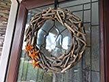 "19 ""Driftwood Wreath-Natural Driftwood Wreath-Summer Wreath-Coastal Wreath-Front Door Wreath-Summer Wreaths for Front Door-Beach Home Decor – DRİFTWOOD Driftwood Wreath, Driftwood Projects, Initial Door Wreaths, Wreaths For Front Door, Gray Bedspread, Coastal Wreath, Gold Throw Pillows, Chunky Knit Throw, Bamboo Fence"