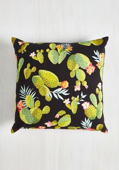 Cacti Affair Pillow - Multi, Rustic, Better, Cotton, Novelty Print