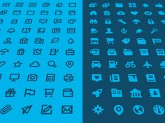Icons. Use of colors.
