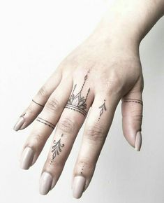 Finger tattoos from Joanna. Done at Chronic Ink Tattoo - Toronto, Canada . - Finger tattoos from Joanna. Done at Chronic Ink Tattoo – Toronto, Canada … – Finger tattoos b - Love Finger Tattoo, Finger Tattoo Designs, Finger Tats, Henna Tattoo Designs, Tiny Finger Tattoos, Henna Finger Tattoo, Henna Hand Tattoos, Pinky Tattoo, Ring Finger