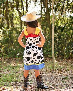 cowgirl Jessie dress Disney Toy Story Birthday by GinaBellas1, $39.50