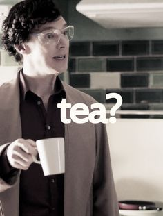 Diggin the goggles. Because, you know, safety comes first when Sherlock decides to make tea.