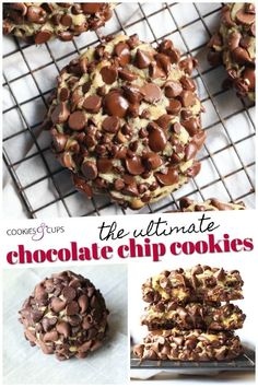 The ULTIMATE Chocolate Chip Cookies are here! I have packed as much chocolate into and on top of these buttery, soft cookies are possible! #cookiesandcups #chocolatechipcookies #cookierecipe #chocolate Ultimate Chocolate Chip Cookies Recipe, Chocolate Chip Walnut Cookies, Chip Cookie Recipe, Best Cookie Recipes, Sweet Recipes, Cookie Desserts, Dessert Recipes, Everyday Food, Cookies Et Biscuits