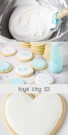This royal icing is easy to make and will make your cookies look professional. Swig Sugar Cookies, Amish Sugar Cookies, Flower Sugar Cookies, Brown Sugar Cookies, Sugar Cookie Icing, Iced Cookies, Royal Icing Cookies, Flood Icing, Frosting Tips