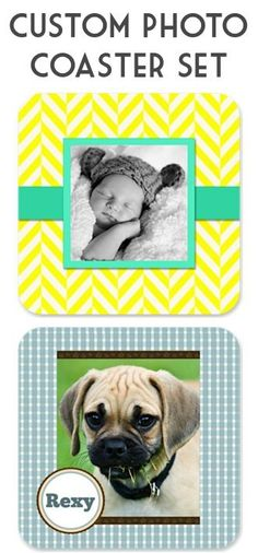 $4.99 Custom Photo Coasters Gift Set + s/h!  {these make the sweetest Father's Day and Graduation Gifts!!}