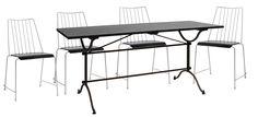 Disse bordene måtte vi bare ta inn. De skaper en herlig fransk stemning og er stabile og gode.