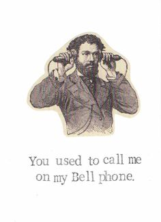 Call Me On My Bell Phone Keep In Touch Card Hotline by ModDessert