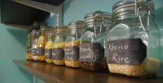 Mason Jar Chalkboard Labeling