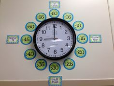 Clock Labels to help students with telling time Maths Display, Class Displays, School Displays, Classroom Displays, Clock Display, Classroom Clock, 3rd Grade Classroom, Third Grade Math, Math Classroom