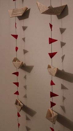 Items similar to Lovely little sailing boats garland (bunting) on Etsy Diy Birthday Banner, Birthday Decorations, Halloween Decorations, Pennywise Decorations, Crafts For Kids, Diy Crafts, Nautical Party, Paper Crafts Origami, New Years Decorations