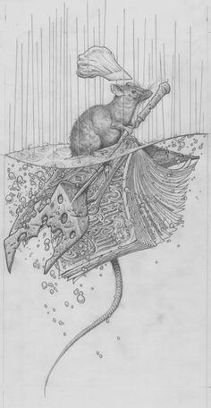 Aaron Horkey's pencil work for 'Remy Adrift'