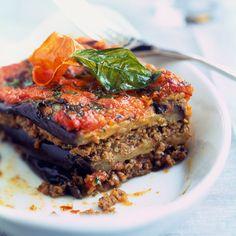 Découvrez la recette Lasagnes d'aubergines légères au boeuf sur cuisineactuelle.fr.