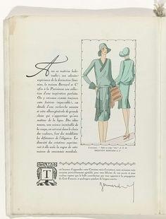 Art - Goût - Beauté, Feuillets de l' élégance féminine, Noël 1928, No. 100, 9e Année, p. 26, Anonymous, Bernard