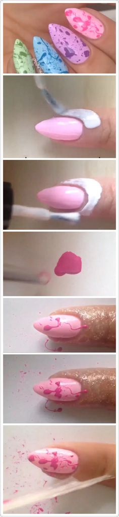 Nail art tutorial.