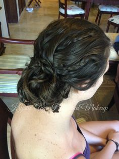 Hair: www.krystieann.com  Bridal hair, wedding hair, bridesmaid hair, wedding hairstyles, updo, bridal undo, beach wedding hair, braided updo, prom hair, krystie ann hair and makeup, punta cana wedding, melia caribe tropical,