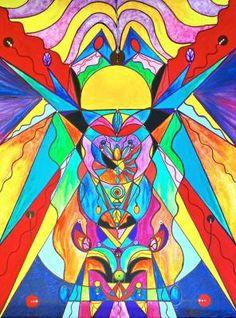 Arcturian Metamorphosis Grid - Frequency Paintings - Teal Swan