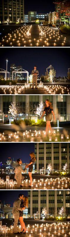 Candlelit Marriage Proposal