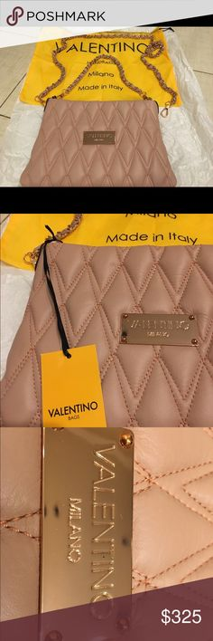 You will fall in love with Valentino! Brand new Valentino bag in rose gold color with two length chains to match your outfit. Valentino Bags Satchels
