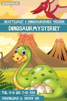 Kan dit barn godt lide dinosaurer? Så er denne skattejagt i dinosaurernes verden det helt rigtige, når I skal holde børnefødselsdag eller gerne vil forgylde en anden lejlighed. #skattejagt