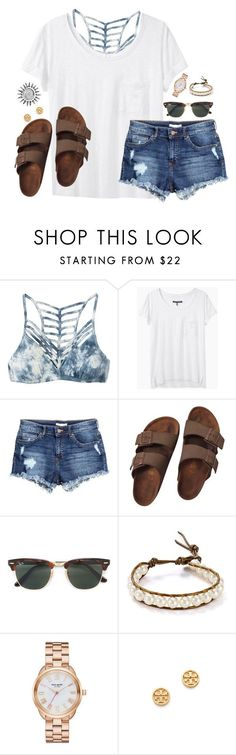 :) by kaley-ii ❤ liked on Polyvore featuring RVCA, rag  bone, HM, Birkenstock, Ray-Ban, Chan Luu, Kate Spade and Tory Burch