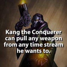 That's pretty rad.  #kangtheconquerer by marvelousfacts