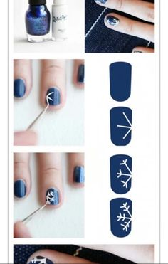 Snow Nail art design