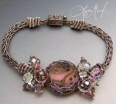 inspiration piece - lamp work by Lydia Muell Wire Wrapped Jewelry, Metal Jewelry, Beaded Jewelry, Handmade Jewelry, Jewelry Crafts, Jewelry Art, Jewelry Design, Jewelry Ideas, Jewlery