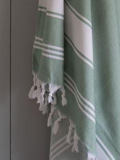 hamamdoek grijs-groen/wit - Ottomania