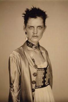 Stella Tennant in Jean Paul Gaultier by Paolo Roversi for Vogue UK, April 1994.